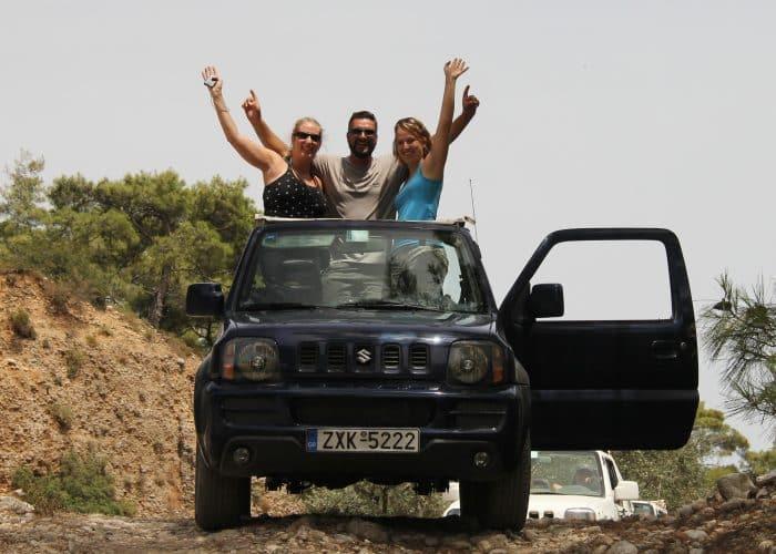 rhodes island jeep safari