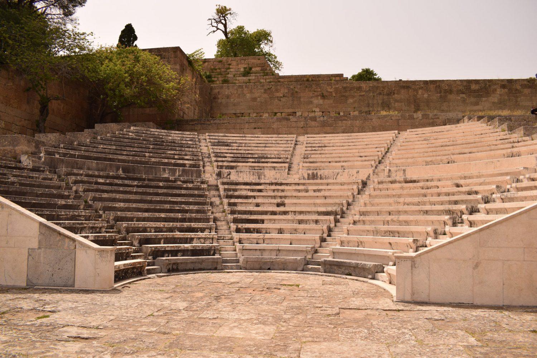 amphitheatre at acropolis of rhodes