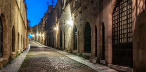 street of the knights rhodes midieval town