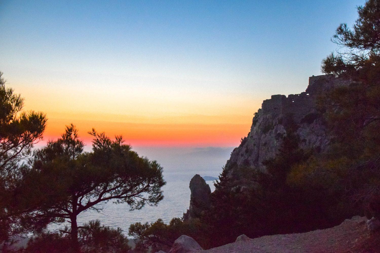 sunset at monolithos