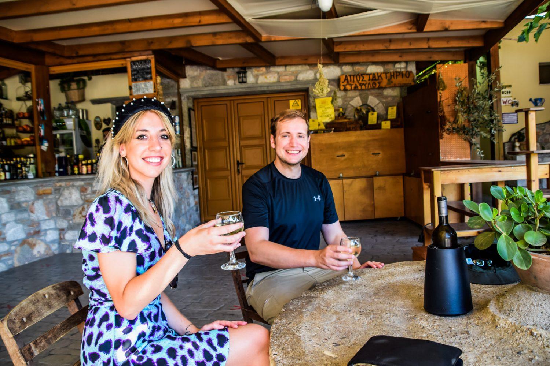 wine tasting at ebonas village during private island tour