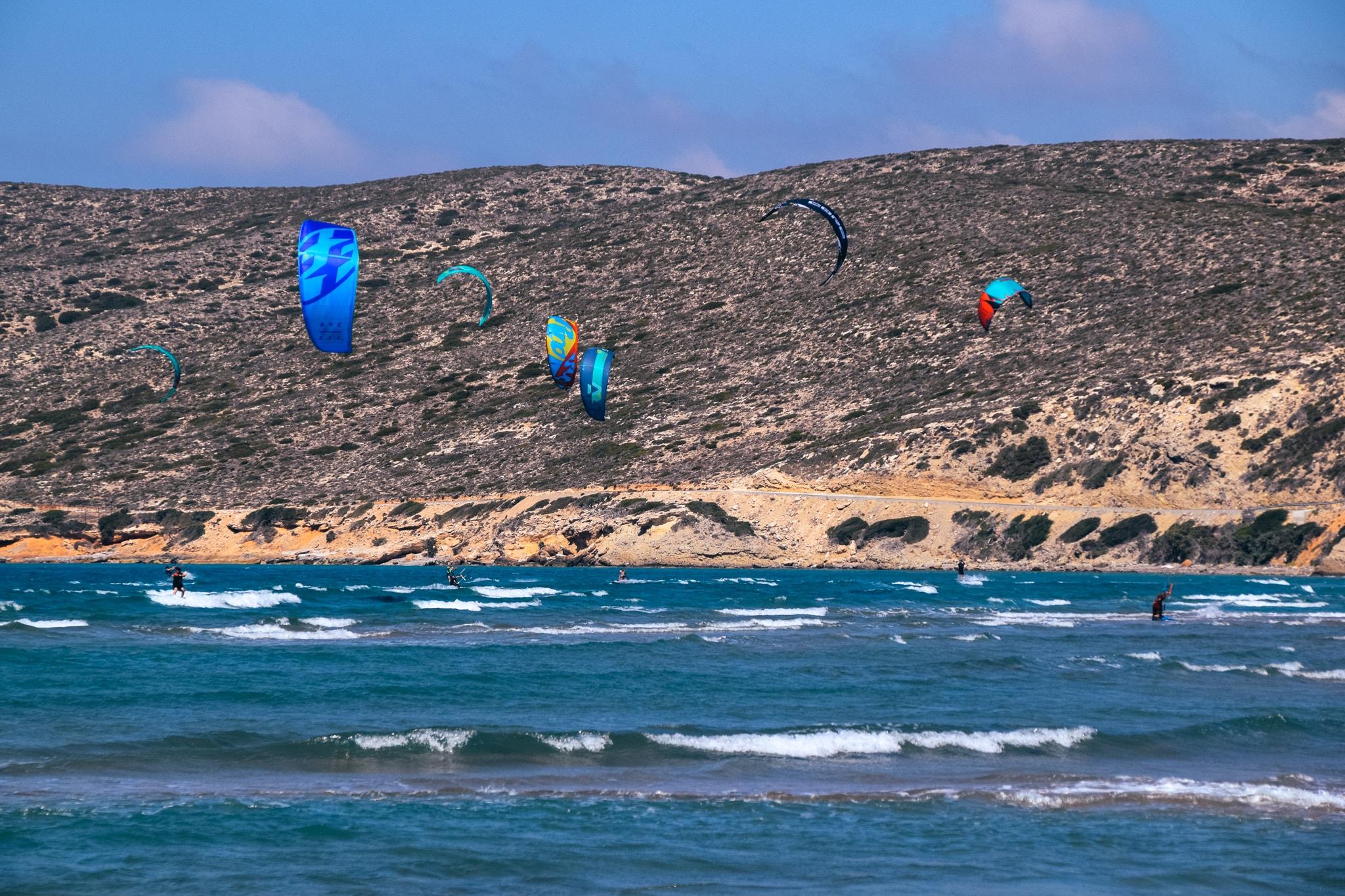 kitesurfing in prasonisi beach