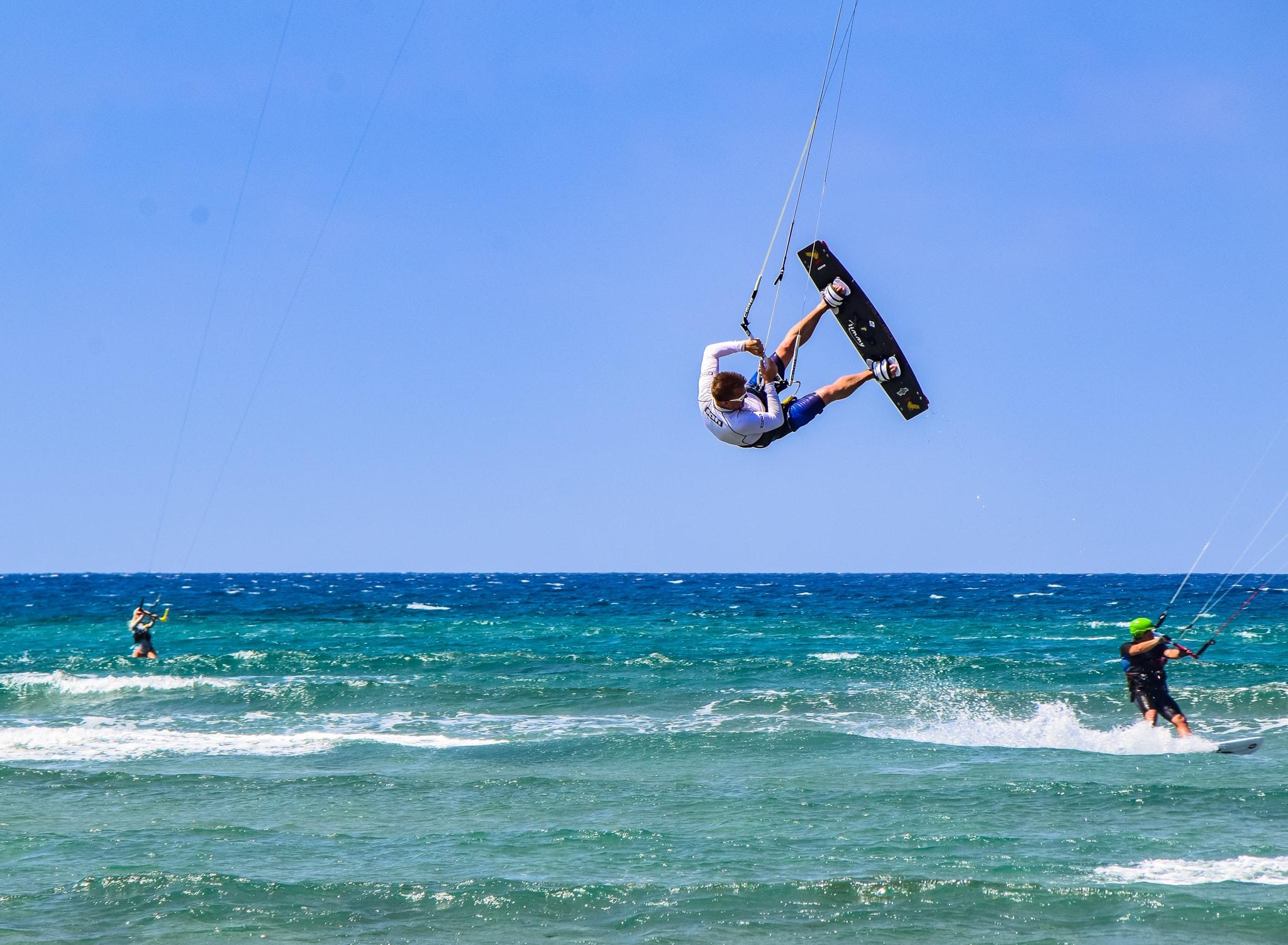 kite surfing in prasonisi beach