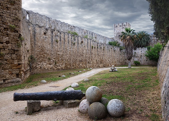 medieval walls of rhodes old town