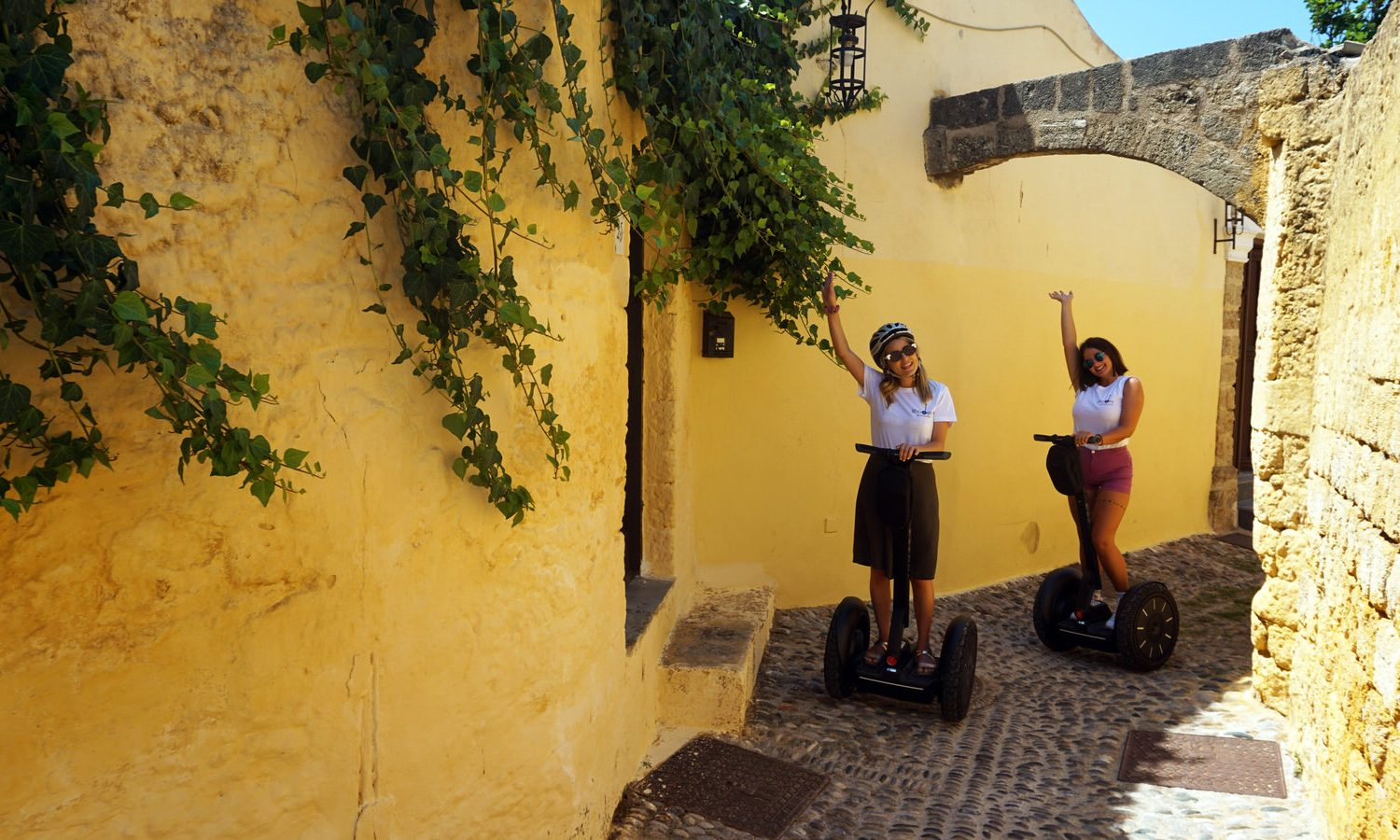 exploring the old town of Rhodes by segway