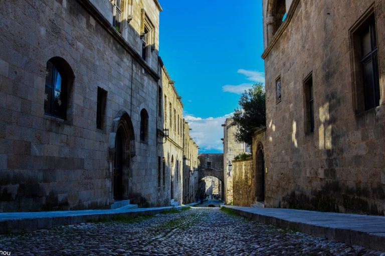 the street of the knights in rhodes old town