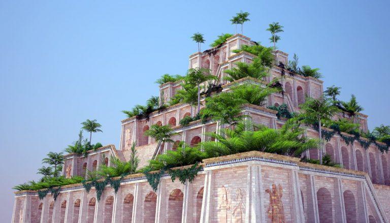 κρεμαστοί κήποι της βαβυλώνας ένα από τα εφτά θαύματα του αρχαίου κόσμου