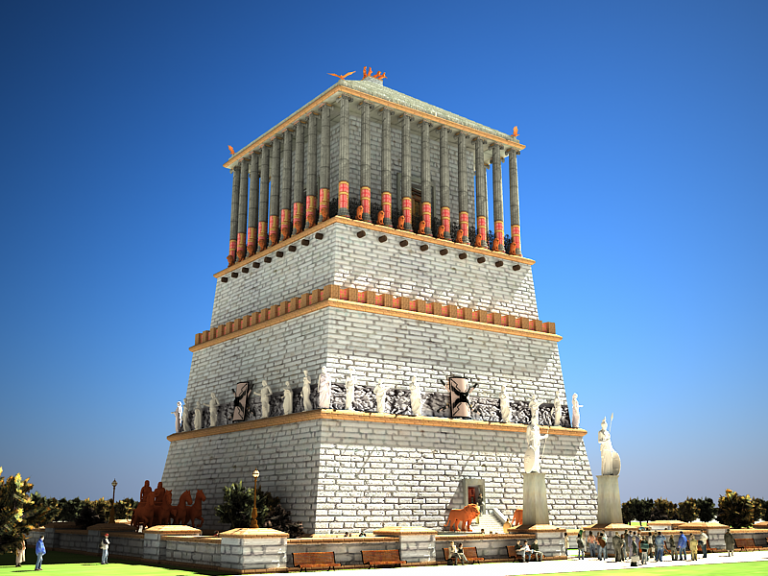 mausoleum of halikarnasos, one of the seven wonders of the ancient world