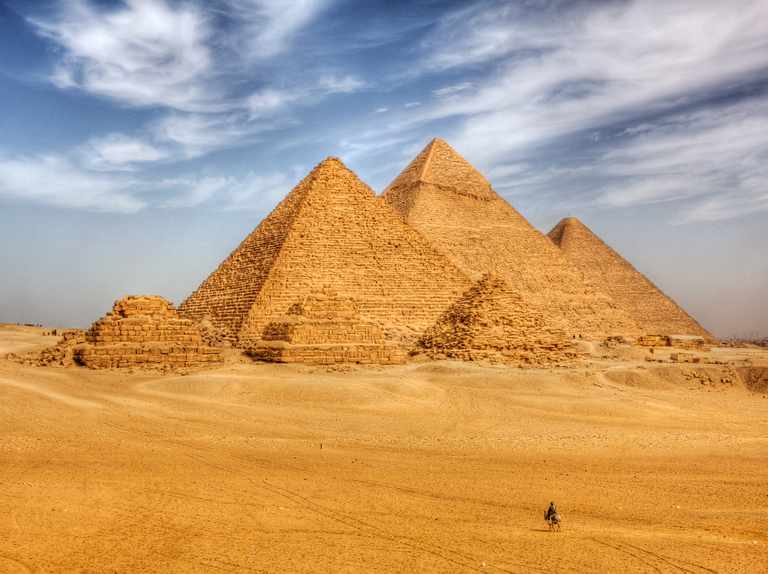 Pyramid of Giza, one of the seven wonders of the ancient world
