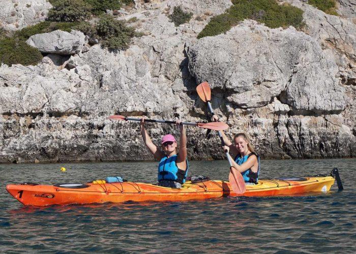 rhodes sea kayaking